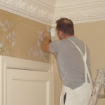 Gournay silk wall covering   Dumbreck Decorators