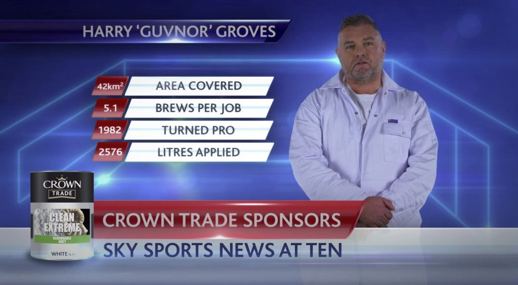 Crown paints Sky Sports 1